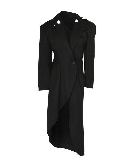 Yohji Yamamoto - Black Overcoat - Lyst