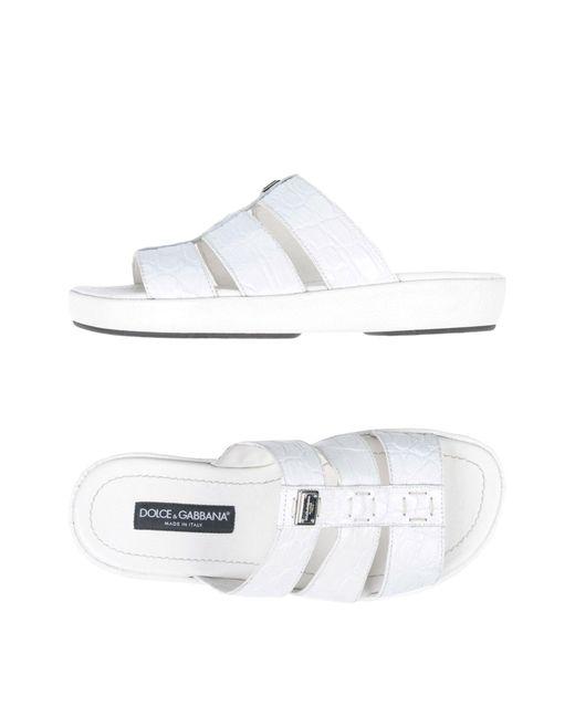 Dolce & Gabbana - White Sandals - Lyst