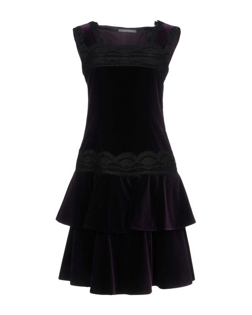 Alberta Ferretti - Purple Short Dress - Lyst