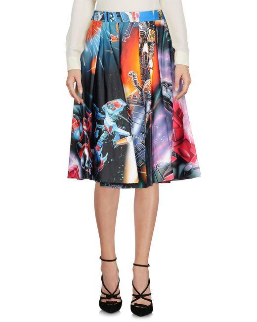 Moschino - Black Knee Length Skirts - Lyst