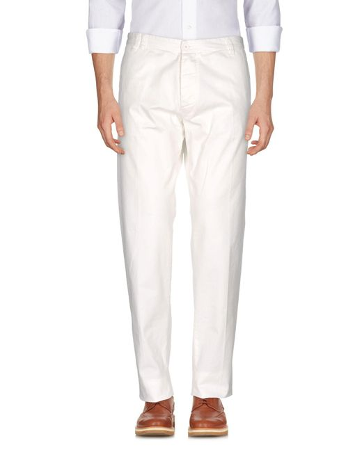 Officina 36 - White Casual Pants for Men - Lyst