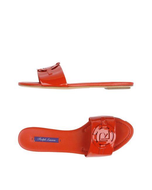 Ralph Lauren - Red Sandals - Lyst
