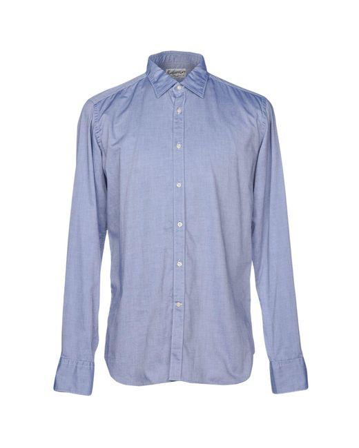 Bevilacqua - Blue Shirts for Men - Lyst