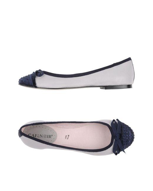 CafeNoir - Blue Ballet Flats - Lyst