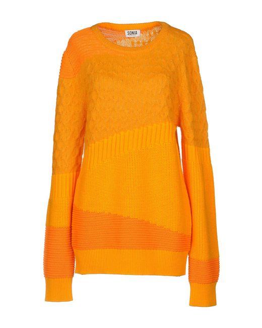Sonia by Sonia Rykiel - Orange Sweater - Lyst