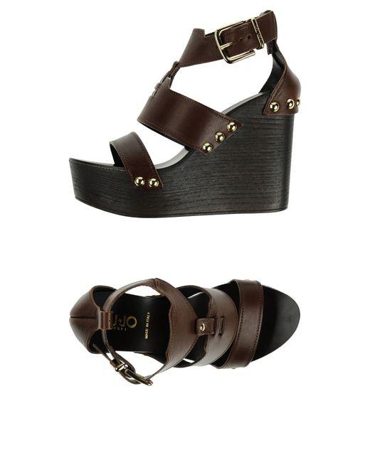 Liu Jo - Brown Sandals - Lyst