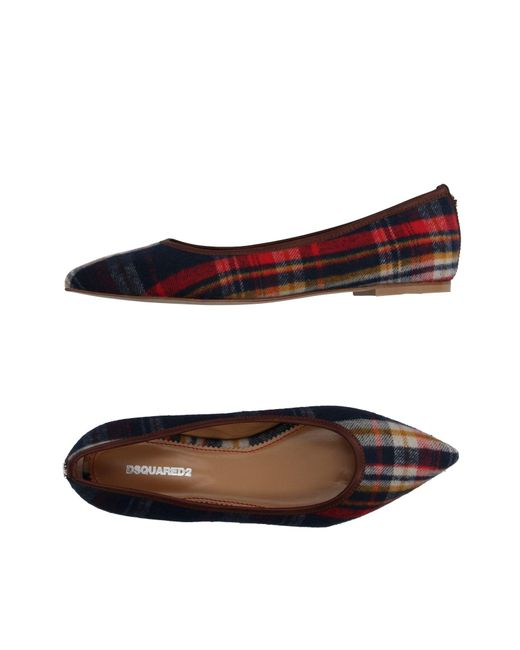 DSquared² - Multicolor Ballet Flats - Lyst