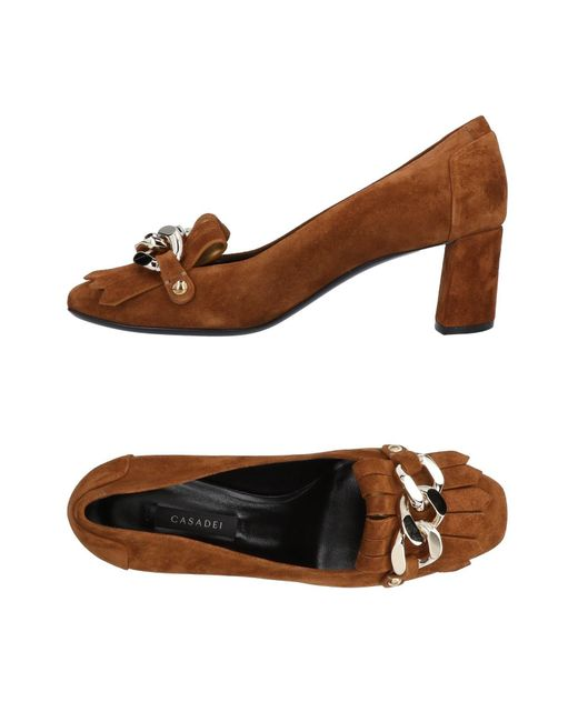 Casadei - Brown Loafer - Lyst
