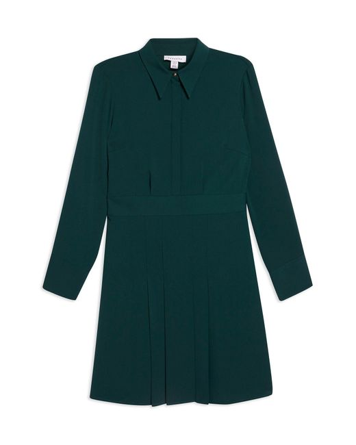 TOPSHOP Green Short Dress