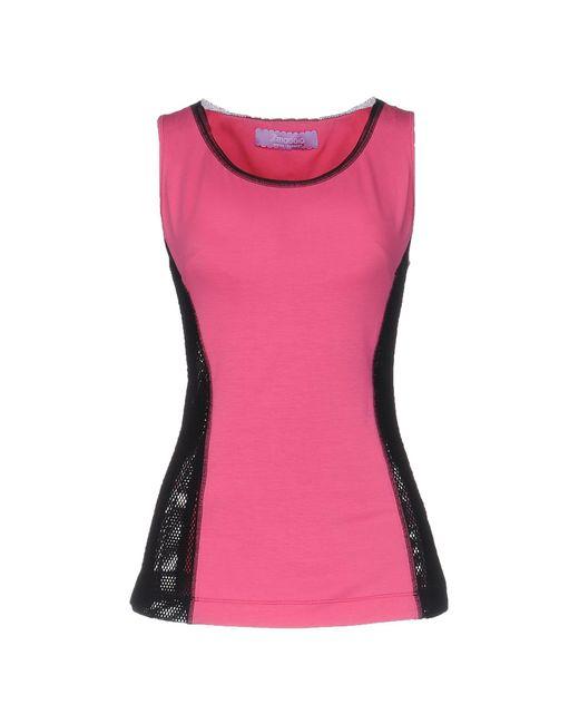 22 Maggio By Maria Grazia Severi - Pink Vest - Lyst