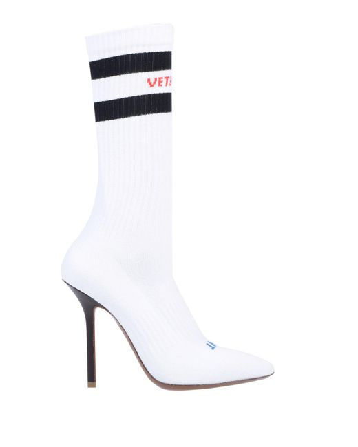 Vetements - White Ankle Boots - Lyst