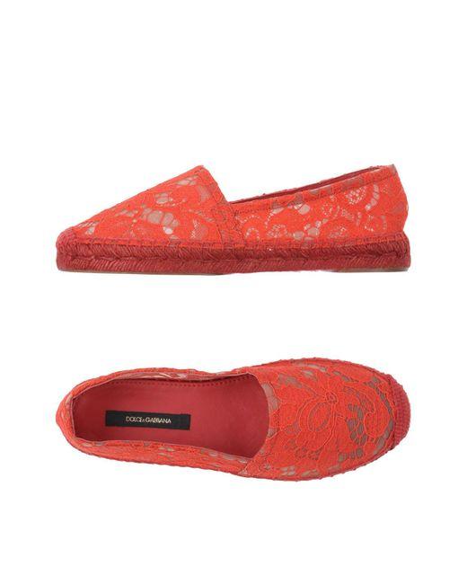 Dolce & Gabbana - Red Espadrilles - Lyst