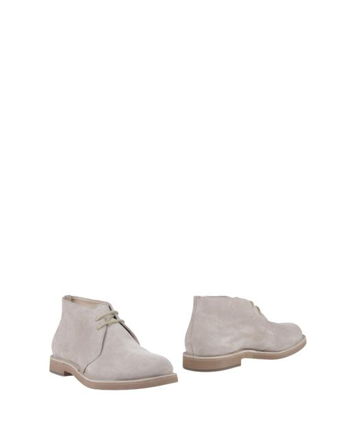 Brunello Cucinelli - Gray Ankle Boots - Lyst