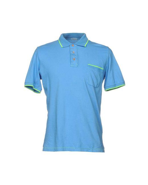 Altea - Blue Polo Shirt for Men - Lyst