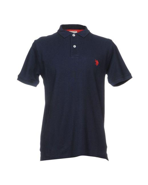U.S. POLO ASSN. - Blue Polo Shirt for Men - Lyst