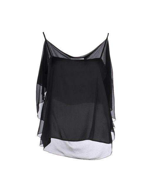 MM6 by Maison Martin Margiela - Black Top - Lyst