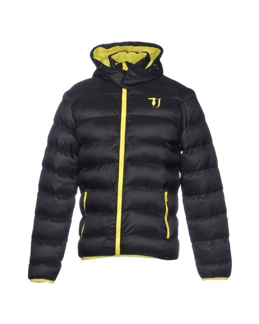 Trussardi - Black Synthetic Down Jacket for Men - Lyst