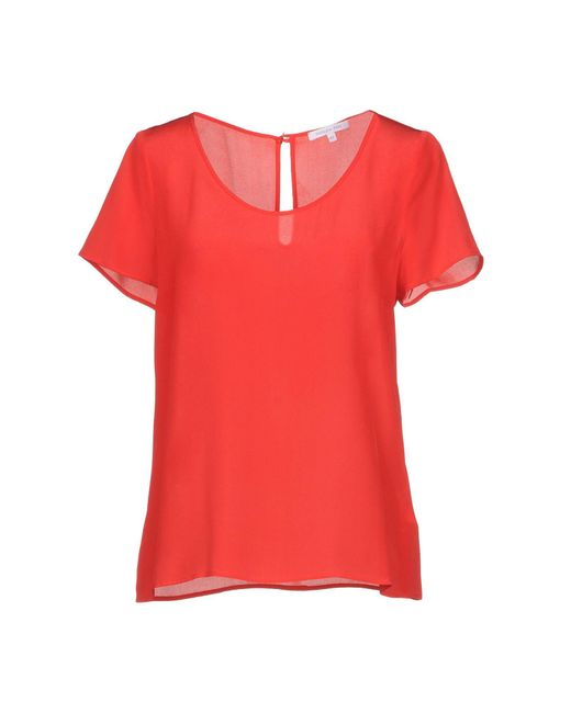 Patrizia Pepe - Red Blouses - Lyst