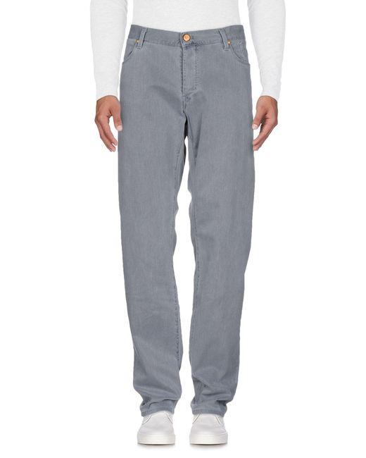 Jeckerson - Gray Denim Trousers for Men - Lyst