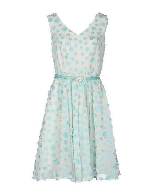 Darling - White Short Dress - Lyst