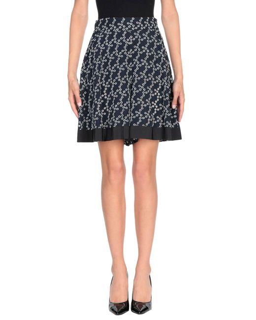 Dorothee Schumacher - Blue Knee Length Skirt - Lyst