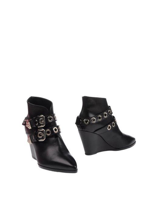 Lella Baldi | Black Ankle Boots | Lyst
