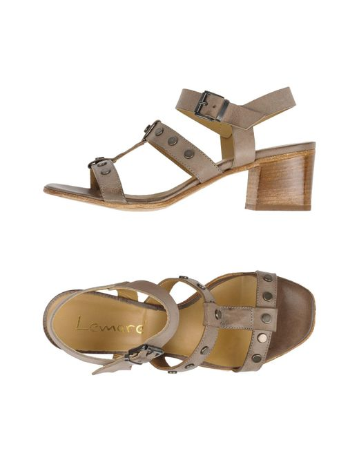 Lemarè | Gray Sandals | Lyst