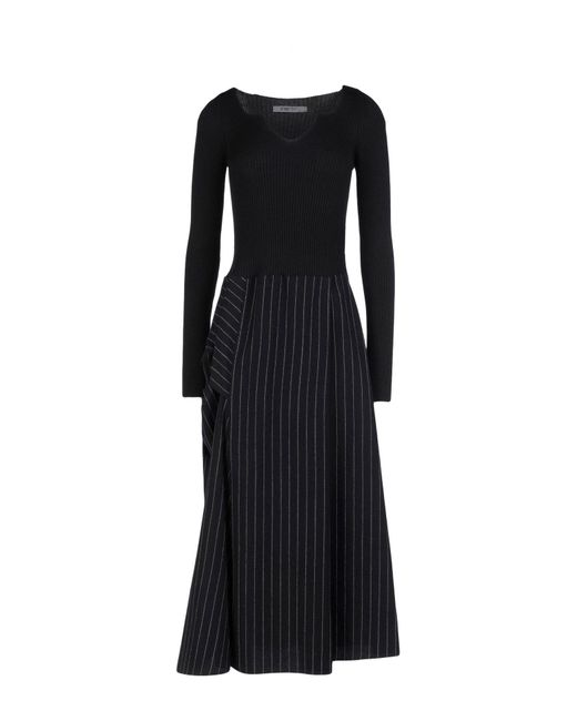 Crea Concept - Black Long Dress - Lyst