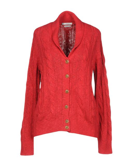 Aigle - Red Cardigan - Lyst