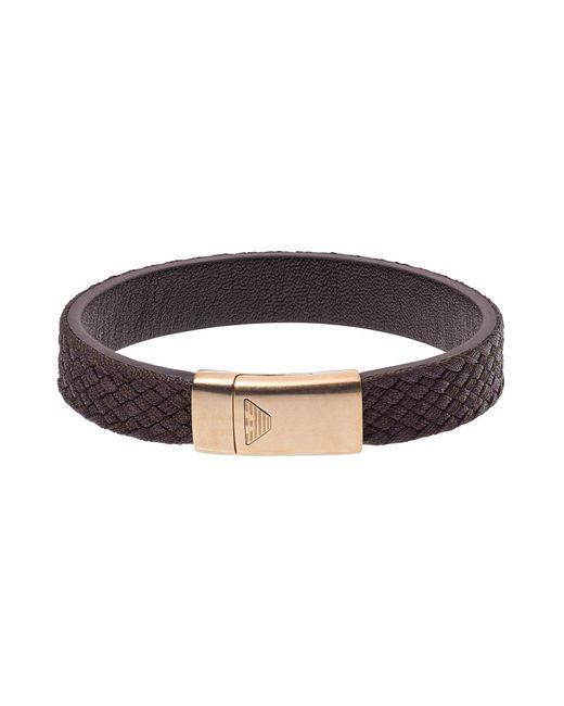 Emporio Armani | Brown Bracelet for Men | Lyst