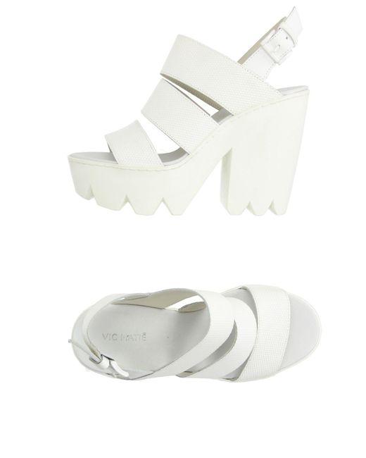 Vic Matié - White Sandals - Lyst