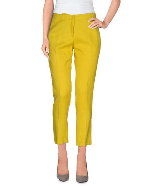 Erika Cavallini Semi Couture - Green Casual Pants - Lyst
