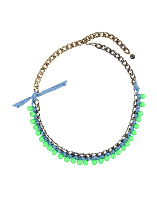 Lanvin - Green Necklace - Lyst