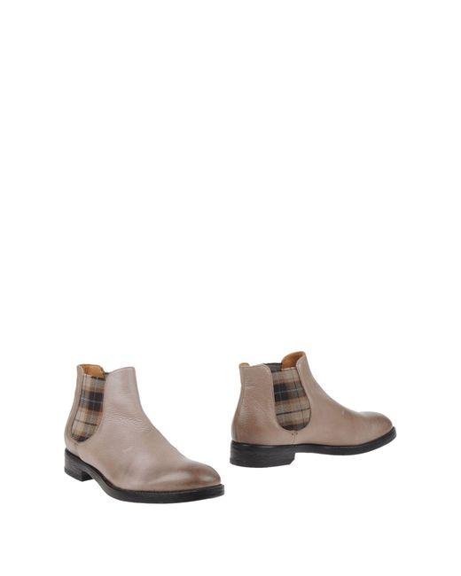 L'autre Doucal's - Gray Ankle Boots - Lyst