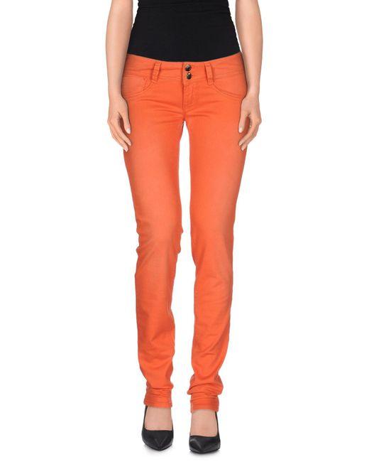 Met - Orange Casual Trouser - Lyst