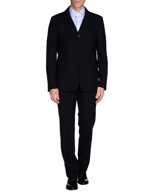 Emporio Armani - Blue Suit for Men - Lyst