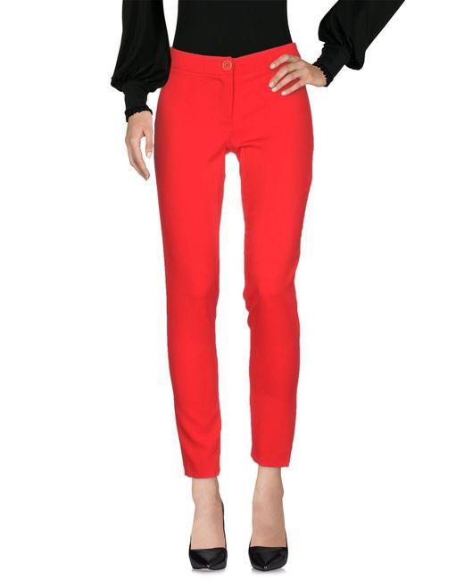 Pianurastudio - Red Casual Pants - Lyst