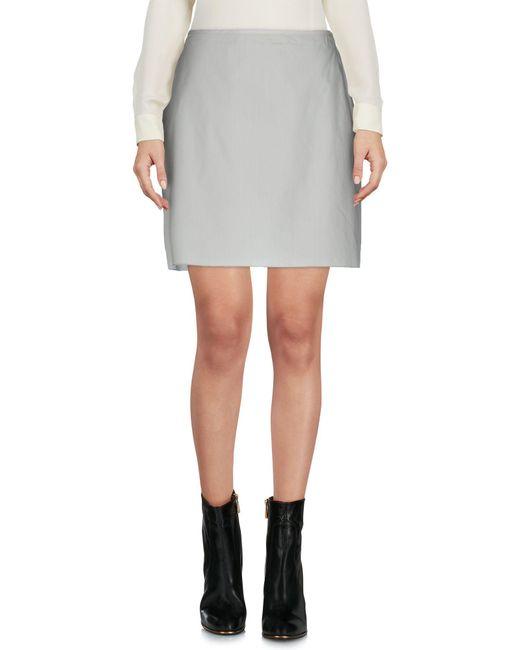 Marni - Gray Mini Skirt - Lyst
