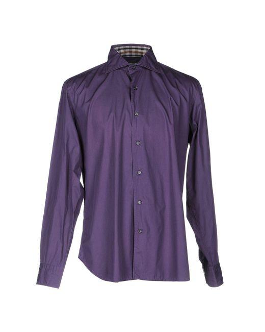 Aquascutum - Purple Shirt for Men - Lyst