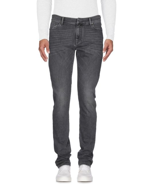 Ring - Gray Denim Pants for Men - Lyst