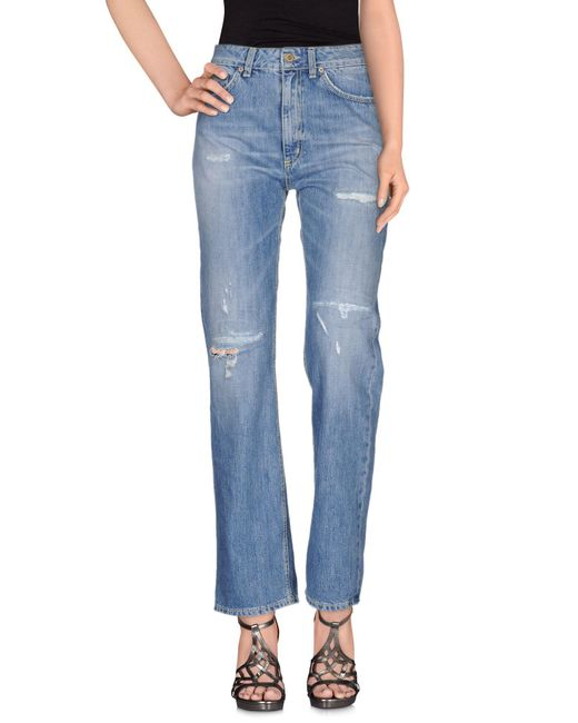 Dondup - Blue Denim Pants - Lyst