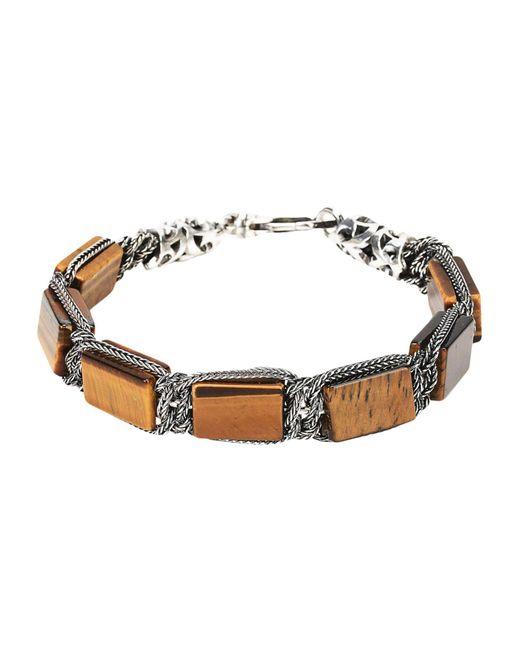Emanuele Bicocchi - Brown Bracelets - Lyst