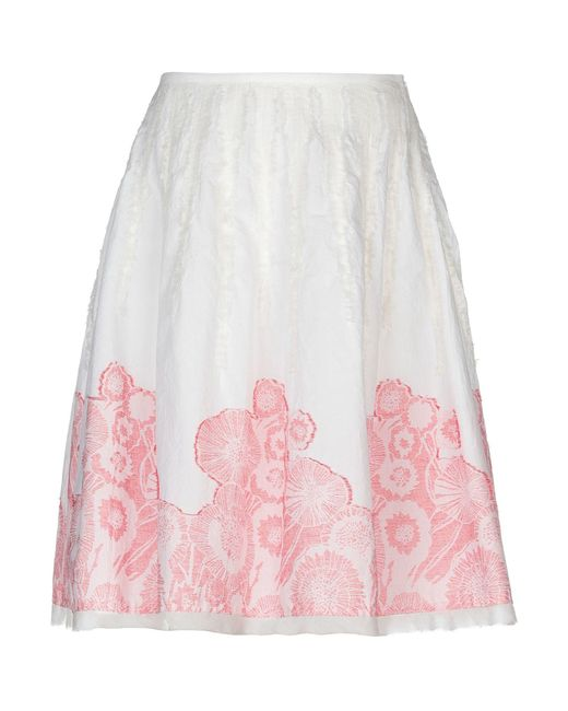 Roberta Scarpa - White Knee Length Skirt - Lyst