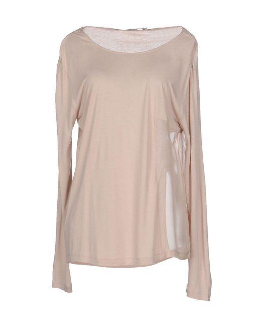 Stefanel - Natural T-shirt - Lyst