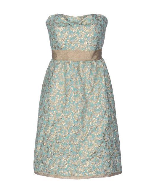 22 Maggio By Maria Grazia Severi - Blue Short Dress - Lyst