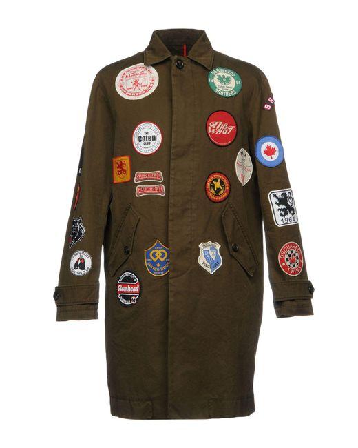 DSquared² | Green Overcoat for Men | Lyst