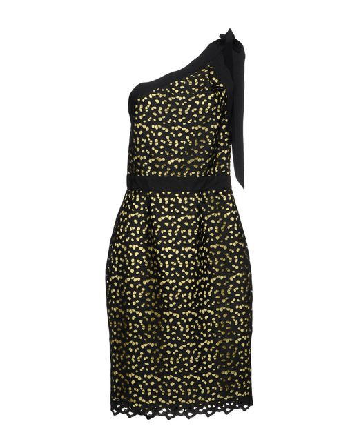 Boutique Moschino - Yellow Knee-length Dress - Lyst