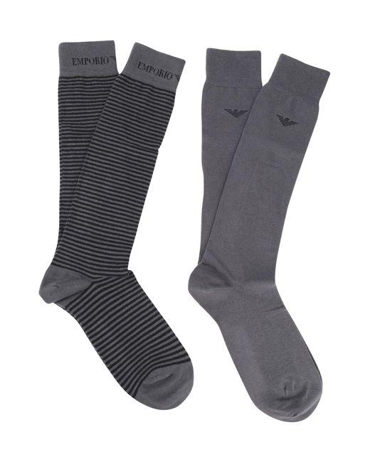 Emporio Armani Gray Short Socks for men