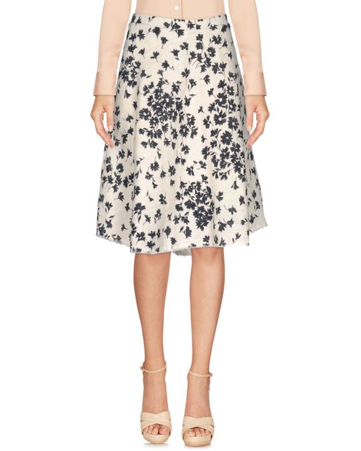 Dorothee Schumacher - White Knee Length Skirts - Lyst