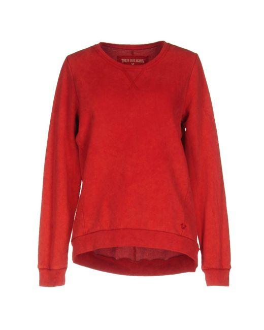 True Religion | Red Sweatshirt | Lyst